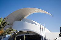 Europe/Espagne/Iles Canaries/Tenerife/Santa Cruz de Tenerife: Le  nouvel Auditorium oeuvre de Santiago Caltatrava