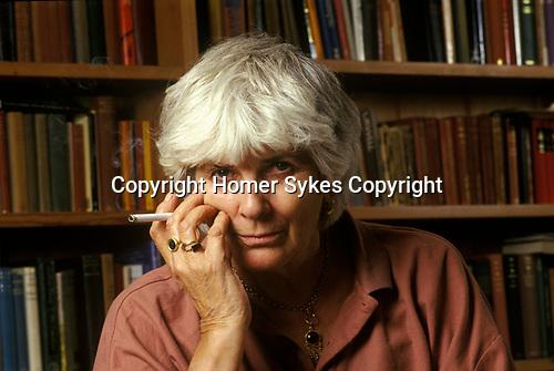 Elizabeth Jane Howard  author at home in Bungay Suffolk England  1995 1990s UK