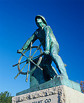 Gloucester, Cape Ann, MA<br /> Fisherman's Memorial sculpture, by Fitz Hugh Lane, also known as The Man at the Wheel