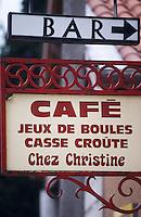 Europe/France/Rhône-Alpes/69/Rhône/Villefranche-sur-Saône: Enseigne d'un bar