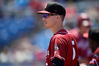 Altoona Curve Bryan Reynolds (5) during a game against the Binghamton Rumble Ponies on June 14, 2018 at NYSEG Stadium in Binghamton, New York.  Altoona defeated Binghamton 9-2.  (Mike Janes/Four Seam Images)