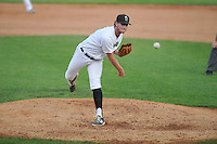 Clinton LumberKings Matt Walker (41) throws during the Midwest League game against the Beloit Snappers at Ashford University Field on June 11, 2016 in Clinton, Iowa.  The LumberKings won 7-6.  (Dennis Hubbard/Four Seam Images)