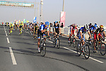 The bunck cross the finish line of the 1st Stage of the 2012 Tour of Qatar running from Umm Slal Mohammed to Doha Golf Club, Doha, Qatar, 5th February 2012 (Photo Eoin Clarke/Newsfile)