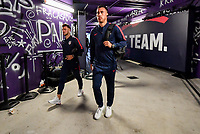 ORLANDO, FL - NOVEMBER 15: Paul Arriola #7 and Daniel Lovitz #5 of the United States walks through the tunnel out to the field during a game between Canada and USMNT at Exploria Stadium on November 15, 2019 in Orlando, Florida.