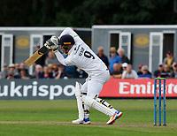 21st September 2021; Aigburth, Merseyside, England; County Championship Cricket, Lancashire versus Hampshire, Day 1; Tom Alsop of Hampshire plays forward