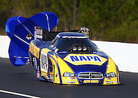 Mar 16, 2014; Gainesville, FL, USA; NHRA funny car driver Ron Capps during the Gatornationals at Gainesville Raceway Mandatory Credit: Mark J. Rebilas-USA TODAY Sports