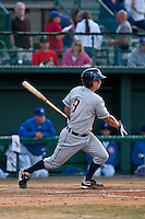 April 28 2010: Bryan Pounds (9) of the Lakeland Flying Tigers during a game vs. the Daytona Beach Cubs at Jackie Robinson Ballpark in Daytona Beach, Florida. Daytona, the Florida State League High-A affiliate of the Chicago Cubs, lost the game against Lakeland, affiliate of the Detroit Tigers, by the score of 5-3  Photo By Scott Jontes/Four Seam Images