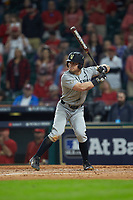 Walker Grisanti (17) of the Vanderbilt Commodores at bat against the Louisiana Ragin' Cajuns in game five of the 2018 Shriners Hospitals for Children College Classic at Minute Maid Park on March 3, 2018 in Houston, Texas.  The Ragin' Cajuns defeated the Commodores 3-0.  (Brian Westerholt/Four Seam Images)