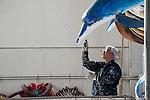 Artigiano cartapestaio.<br /> Il carnevale di Gallipoli è tra i più noti della Puglia. La sua tradizione è antichissima ed è documentata, oltre che in atti e documenti settecenteschi, anche da radici folcloristiche che affondano le origini in epoca medioevale, tramandate fino ad oggi dallo spirito popolare. La prima edizione (per come la conosciamo) risale al 1941; nel 2014 sarà l'edizione numero 73.<br /> La manifestazione carnascialesca è organizzata dall' Associazione Fabbrica del Carnevale, nata nel febbraio 2013 con la finalità diorganizzare, promuovere e riportare in auge il Carnevale della Cittàdi Gallipoli. L'Associazione raccoglie al suo interno i maestri cartapestai Gallipolini e tanti giovani artisti, che vogliono valorizzare il Carnevale della città bella. Presidente dell'Associazione è Stefano Coppola.<br /> La manifestazione ha inizio il 17 gennaio, giorno di sant'Antonio Abate (te lu focu = del fuoco), con la Grande Festa del Fuoco, quando si accende con la tradizionale focara, un grande falò di rami d'ulivo. L'ultima domenica di carnevale e il martedì grasso lungo corso Roma, nel centro cittadino, si svolge la sfilata dei carri allegorici in cartapesta e dei gruppi mascherati corso Roma davanti a migliaia di spettatori provenienti da tutta la provincia di Lecce e da città pugliesi. Il tema dell'edizione di quest'anno è un omaggio a Walter Elias Disney.<br /> <br /> Artisan paper mache.<br /> The Carnival of Gallipoli is among the best known of Puglia. Its tradition is very old and is documented , as well as records and documents in the eighteenth century , as well as folkloric roots that sink their roots in medieval times , handed down today by the popular spirit . The first edition dates back to 1941 and in 2014 will be the edition number 73 .<br /> The carnival is organized by the Association of Carnival Factory , founded in February 2013 with the objective to organize, promote and revive the Carnival of the city of Gallipoli. The Association colle