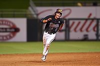 ASU Sun Devils Aliki Williams (5) runs to third base during an Instructional League game against the Texas Rangers at Surprise Stadium on October 6, 2018 in Surprise, Arizona. (Zachary Lucy/Four Seam Images)