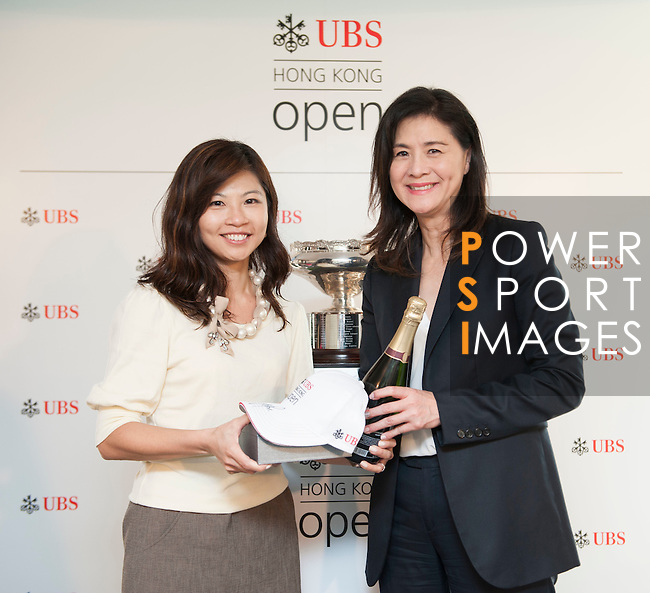 Amy Lo Head of UBS Wealth Management Greater China, and Country Head, UBS Hong Kong attends the prize ceremony during the Am-Am ahead the UBS Hong Kong Open golf tournament at the Fanling golf course on 27 October 2015 in Hong Kong, China. Photo by Aitor Alcade / Power Sport Images