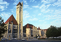 St. Louis: Union Station, Facade. Theodore C. Link, 1896. Photo '78.