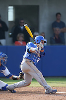 Ka'ai Tom (25) of the Kentucky Wildcats bats during a game against the UC Santa Barbara Gauchos at Caesar Uyesaka Stadium on March 20, 2015 in Santa Barbara, California. UC Santa Barbara defeated Kentucky, 10-3. (Larry Goren/Four Seam Images)