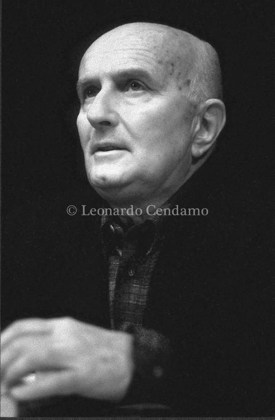 Giovanni Testori è stato uno scrittore, drammaturgo, storico dell'arte e critico letterario italiano. Milano, 6 maggio 1986. Photo by Leonardo Cendamo/Getty Images