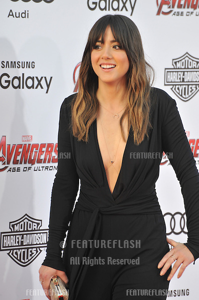 """Chloe Bennet at the world premiere of """"Avengers: Age of Ultron"""" at the Dolby Theatre, Hollywood.<br /> April 13, 2015  Los Angeles, CA<br /> Picture: Paul Smith / Featureflash"""