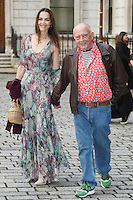 Catherine Dyer and David Bailey  arrive for the VIP preview of the Royal Academy of Arts Summer Exhibition 2016