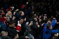 Liverpool fans applaud their team at the final whistle <br /> <br /> Photographer Stephanie Meek/CameraSport<br /> <br /> The Premier League - Tottenham Hotspur v Liverpool - Saturday 11th January 2020 - Tottenham Hotspur Stadium - London<br /> <br /> World Copyright © 2020 CameraSport. All rights reserved. 43 Linden Ave. Countesthorpe. Leicester. England. LE8 5PG - Tel: +44 (0) 116 277 4147 - admin@camerasport.com - www.camerasport.com