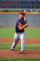 Cleveland Indians pitcher Ping-Hsueh Chen (59) during an instructional league game against the Los Angeles Dodgers on October 15, 2015 at the Goodyear Ballpark Complex in Goodyear, Arizona.  (Mike Janes/Four Seam Images)
