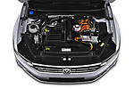 Car Stock 2020 Volkswagen Passat GTE 5 Door Wagon Engine  high angle detail view