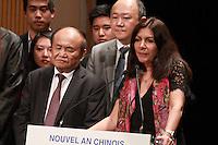 Anne Hidalgo - CÈlÈbration du Nouvel An Chinois ‡ la Mairie de Paris, le 01/02/2017. # ZHAI JUN, L'AMBASSADEUR DE CHINE, FETE LE NOUVEL AN CHINOIS A PARIS