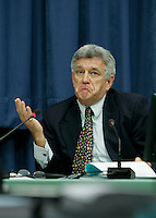 April 19 2005, Montreal (Qc) CANADA<br /> Claude Boulay, Owner GROUPACTION ad agency testifie at  the  Gomery commission of inquiry into the Canadian government's sponsorship program and advertising activities