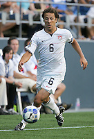 Steve Cherundolo controls the ball. USA defeated Grenada 4-0 during the First Round of the 2009 CONCACAF Gold Cup at Qwest Field in Seattle, Washington on July 4, 2009.