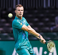 Rotterdam, The Netherlands, 13 Februari 2019, ABNAMRO World Tennis Tournament, Ahoy,  first round singles: Marton Fucsovics (HUN)<br /> Photo: www.tennisimages.com/Henk Koster
