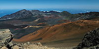 Cinder cones, lava flows and erosion add to the intense beauty of this natural landscape in HALEAKALA NATIONAL PARK on Maui in Hawaii