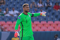 DENVER, CO - JUNE 3: Zack Steffen #1 of the United States during a game between Honduras and USMNT at EMPOWER FIELD AT MILE HIGH on June 3, 2021 in Denver, Colorado.