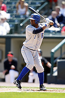 May 25, 2009:  Shortstop Henry Mateo (1) of the Durham Bulls, International League Triple-A affiliate of the Tampa Bay Rays, during a game at Frontier Field in Rochester, NY.  Photo by:  Mike Janes/Four Seam Images