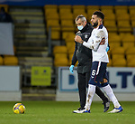 23.12.2020 St Johnstone v Rangers: <br /> Connor Goldson with Rangers physio Stevie Walker after landing heavily