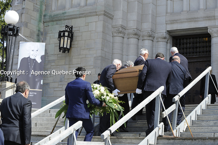 Funerailles<br />  de Jeanine Sutto, 10 avril 2017<br /> <br /> PHOTO : Agence Quebec Presse