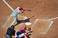 30 May 2011: Philadelphia Phillies catcher Carlos Ruiz in action against the Washington Nationals at Nationals Park in Washington, District of Columbia. The Phillies defeated the Nationals 5-4 to take the first game of their 3-game series. Mandatory Credit: Ed Wolfstein Photo
