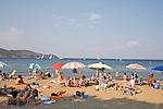 Italy, Island of Elba; Public Beach at Mola, Province of Livorno; Tuscany,.Mediterranean Sea; Tyrrhenian Sea; Tuscan archipelago, West coast of Italy, .
