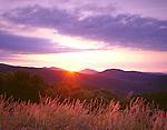 Shenandoah National Park, VA<br /> Sunrise over the Shenandoah Mountains from Thornton Overlook