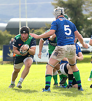 Saturday 10th October 2020 | Ballynahinch vs Queens<br /> <br /> Zack McCall during the Energia Community Series clash between Ballynahinch and Queens at Ballymacarn Park, Ballynahinch, County Down, Northern Ireland. Photo by John Dickson / Dicksondigital