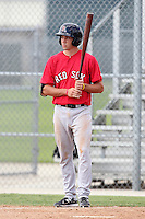 Boston Red Sox catcher Blake Swihart #22 during an Instructional League game against the Minnesota Twins at Red Sox Minor League Training Complex in Fort Myers, Florida;  October 3, 2011.  (Mike Janes/Four Seam Images)