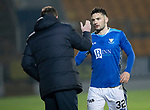 St Johnstone v Hamilton Accies…19.01.19…   McDiarmid Park    Scottish Cup 4th Round<br />Tony Watt gets a well done from manager Tommy Wright as he is subbed<br />Picture by Graeme Hart. <br />Copyright Perthshire Picture Agency<br />Tel: 01738 623350  Mobile: 07990 594431