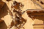 Detalle de la fachada de la Iglesia de Santa Eulalia. Murcia.