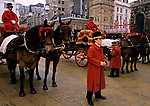 The Lord Mayor Show, horse drawn carriages that will be in the parade through London. 1990 1990s UK