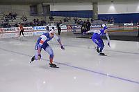 SPEEDSKATING: Calgary, 07-02-2020, ISU World Cup Speed Skating Calgary, 500m Men Division A, Pavel Kulizhnikov (RUS), Håvard Holmefjord Lorentzen (NOR), ©foto Martin de Jong