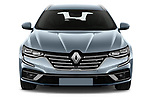 Car photography straight front view of a 2021 Renault Talisman-Grandtour Initiale-Paris 5 Door Wagon Front View