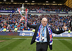 Mark Warburton with the league championship trophy