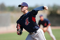Cleveland Indians minor leaguer Dan Cevette during Spring Training at the Chain of Lakes Complex on March 17, 2007 in Winter Haven, Florida.  (Mike Janes/Four Seam Images)