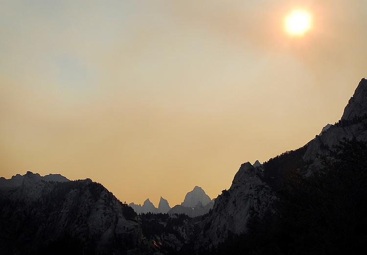 Mt. Whitney - Forest fire haze (2010)