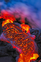 Sunrise, Poupou ocean entry, Hawaii, USA Volcanoes National Park, Big Island of Hawaii, USA