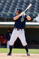 Jeremy Reed #11 of the Charlotte Knights at bat against the Louisville Bats at Knights Stadium July 20, 2010, in Fort Mill, South Carolina.  Photo by Brian Westerholt / Four Seam Images