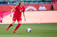 CARSON, CA - FEBRUARY 07: Janine Beckie #16 of Canada dribbles the ball during a game between Canada and Costa Rica at Dignity Health Sports Complex on February 07, 2020 in Carson, California.
