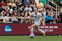 NEWTON, MA - AUGUST 29: Sam Smith #9 of Boston College looks to pass during a game between University of Connecticut and Boston College at Newton Campus Soccer Field on August 29, 2021 in Newton, Massachusetts.