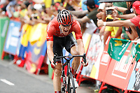 ESPAÑA, 31-08-2019: ARNDT Nikias (GER - SUNWEB) celebra después de ganar la etapa 8, hoy, 31 de agosto de 2019, que se corrió entre Valls e Igualada con una distancia de 166,9 km como parte de La Vuelta a España 2019 que se disputa entre el 24/08 y el 15/09/2019 en territorio español. / ARNDT Nikias (GER - SUNWEB)celebrates after winning stage 8 today, August 31, 2019, from Valls to Igualada with a distance of 166,9 km as part of Tour of Spain 2019 which takes place between 08/24 and 09/15/2019 in Spain.  Photo: VizzorImage / Luis Angel Gomez / ASO<br /> VizzorImage PROVIDES THE ACCESS TO THIS PHOTOGRAPH ONLY AS A PRESS AND EDITORIAL SERVICE AND NOT IS THE OWNER OF COPYRIGHT; ANOTHER USE HAVE ADDITIONAL PERMITS AND IS  REPONSABILITY OF THE END USER